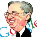 Eric Schmidt of Google Pretends to Drink Diet Coke