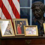 Biden replaces Andrew Jackson portrait in Oval Office, adds Cesar Chavez bust
